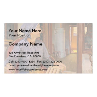 The Court by Honore Daumier Business Card Templates