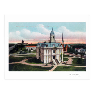 The Court House, Post Office, Capitol Bldg Postcard
