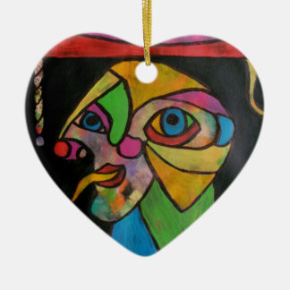 The Court Jester1 Ceramic Heart Decoration