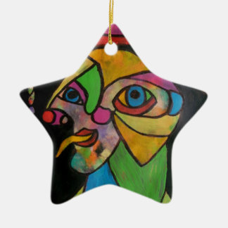 The Court Jester1 Ceramic Star Decoration