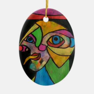 The Court Jester1 Ceramic Oval Decoration