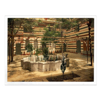 The court of a house, Damascus, Holy Land, (i.e. S Postcard