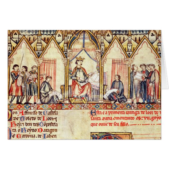 The court of Alfonso X  'the Wise' Card