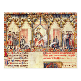 The court of Alfonso X  'the Wise' Postcard