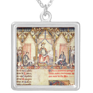 The court of Alfonso X  'the Wise' Silver Plated Necklace