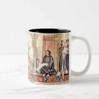 The court of Alfonso X  'the Wise' Two-Tone Coffee Mug