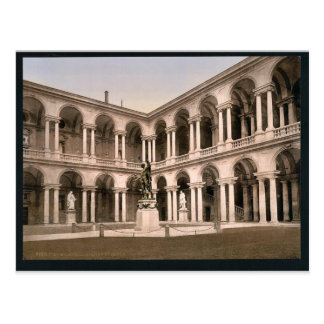 The Court of Brera, Milan, Italy vintage Photochro Postcards
