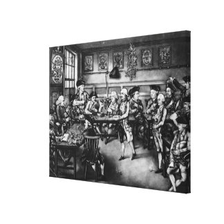 The Court of Equity or Convivial City Meeting Canvas Print