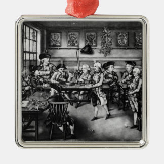The Court of Equity or Convivial City Meeting Metal Ornament