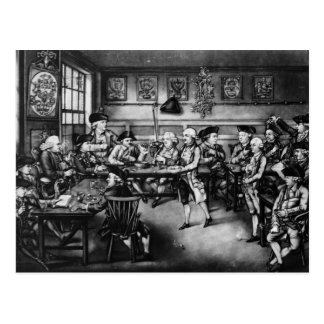 The Court of Equity or Convivial City Meeting Postcard