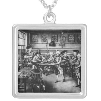 The Court of Equity or Convivial City Meeting Silver Plated Necklace