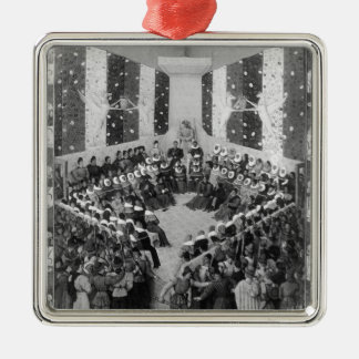 The Court of Justice Metal Ornament