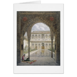 The Court of the Alberca in the Alhambra, Granada, Card
