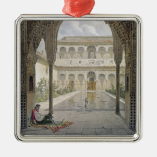 The Court of the Alberca in the Alhambra, Granada, Christmas Ornament