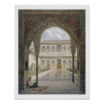 The Court of the Alberca in the Alhambra, Granada, Posters