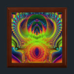 """The Court of the Crimson King Jewelry Box<br><div class=""""desc"""">Very pretty,  colorful,  and unique fractal design. Thanks for looking,  and Happy Holidays!</div>"""