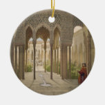 The Court of the Lions, the Alhambra, Granada, 185 Double-Sided Ceramic Round Christmas Ornament