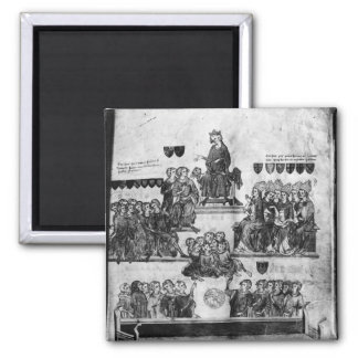 The Court of the Peers 2 Inch Square Magnet