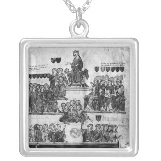 The Court of the Peers Silver Plated Necklace