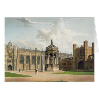 The Court of Trinity College, Cambridge, from 'The Card