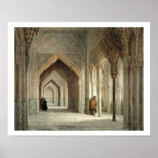 The Court Room of the Alhambra Granada 1853 lit Print