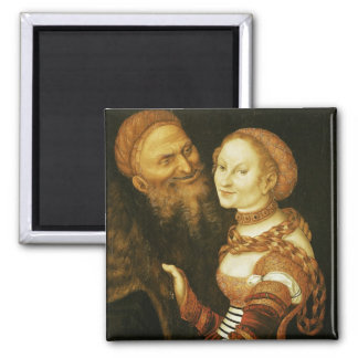 The Courtesan and the Old Man, c.1530 Magnet