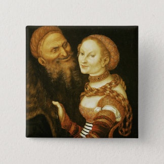 The Courtesan and the Old Man, c.1530 Pinback Button