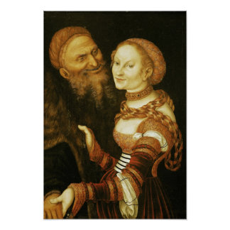 The Courtesan and the Old Man, c.1530 Poster