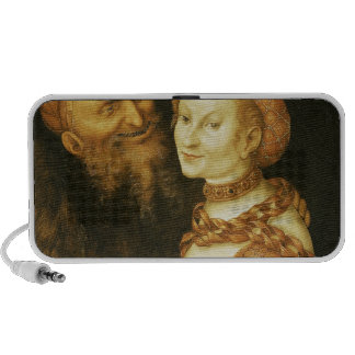 The Courtesan and the Old Man, c.1530 Laptop Speaker