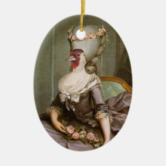 The courtesan ceramic ornament