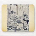 The courtesan Chozan of Choji ya by Santo, Kyoden Mouse Pad