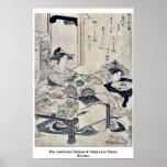 The courtesan Chozan of Choji ya by Santo, Kyoden Posters