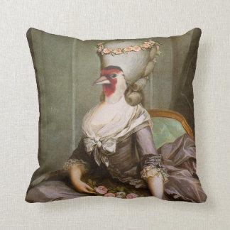 The courtesan throw pillow
