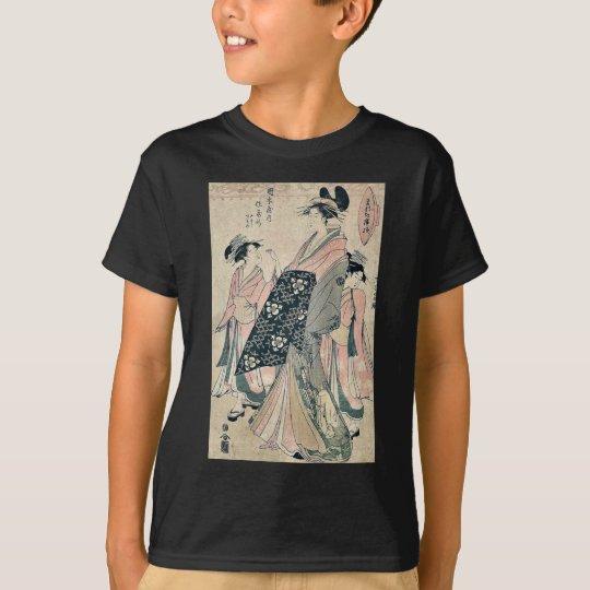 The courtesan Sayagata by Hosoda,Eishi T-Shirt