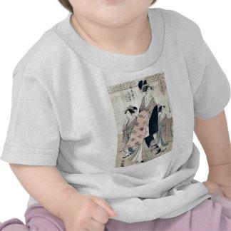 The courtesan Shinateru by Chokosai Eisho T-shirt