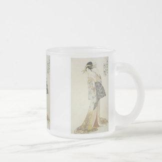 The Courtesan Takikawa, Eishu, 1796,  Mugs & Stein