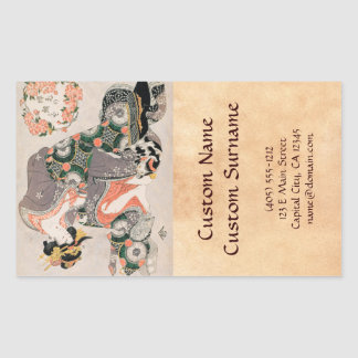 The Courtesan with cat  Kitagawa Utamaro geisha Sticker