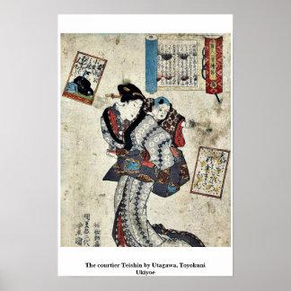 The courtier Teishin by Utagawa, Toyokuni Ukiyoe Poster
