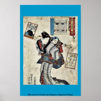 The courtier Teishin by Utagawa, Toyokuni Ukiyoe Print