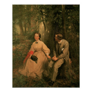 The Courtship by George Cochran Lambdin Poster