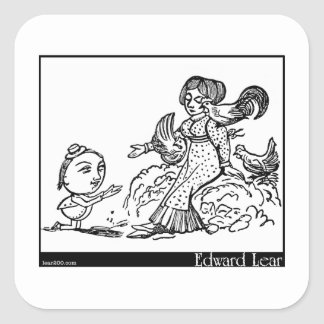The Courtship of the Yonghy-Bonghy-Bo Square Sticker