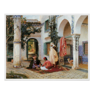 The Courtyard, 1873 Poster