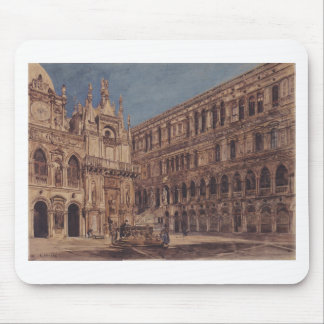 The courtyard of the Doge's Palace in Venice Mouse Pad