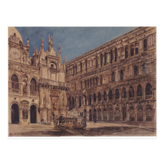 The courtyard of the Doge's Palace in Venice Postcard