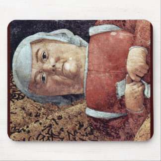 The Courtyard Of The Gonzaga,  By Mantegna Andrea Mousepads