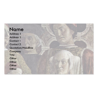The Courtyard Of The Gonzaga Details Double-Sided Standard Business Cards (Pack Of 100)