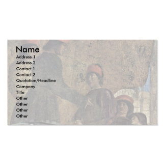 The Courtyard Of The Gonzaga Details, Double-Sided Standard Business Cards (Pack Of 100)