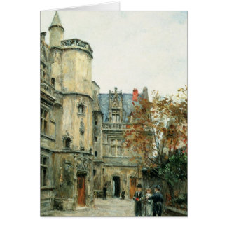 The Courtyard of the Museum of Cluny, c.1878-80 Card