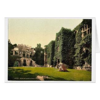 The courtyard, Raglan Castle, England classic Phot Greeting Card