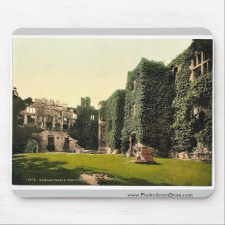 The courtyard, Raglan Castle, England classic Phot Mouse Pad